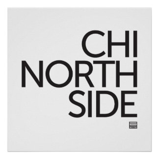 CHI NORTH SIDE Bold Star Poster