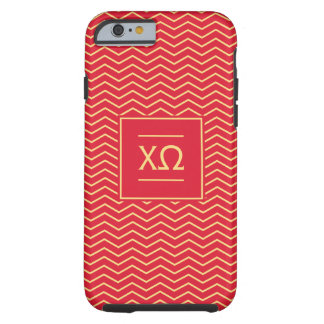 Chi Omega | Chevron Pattern Tough iPhone 6 Case
