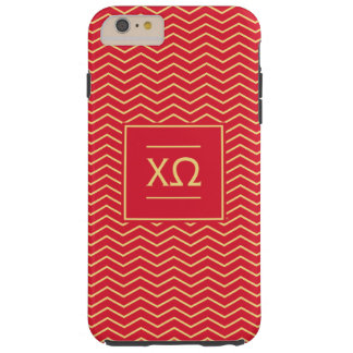 Chi Omega | Chevron Pattern Tough iPhone 6 Plus Case