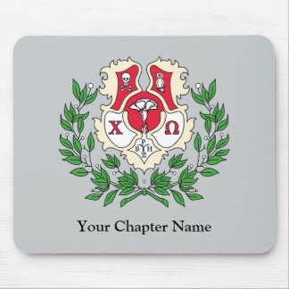 Chi Omega Crest Mouse Pad