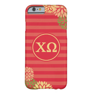 Chi Omega | Monogram Stripe Pattern Barely There iPhone 6 Case