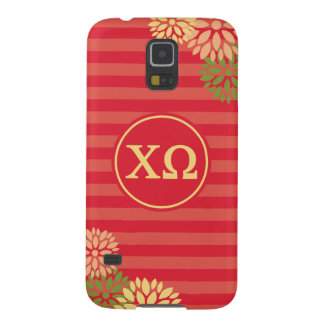 Chi Omega | Monogram Stripe Pattern Galaxy S5 Cover