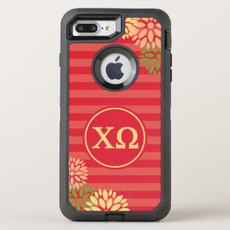 Chi Omega | Monogram Stripe Pattern OtterBox Defender iPhone 8 Plus/7 Plus Case