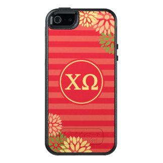 Chi Omega | Monogram Stripe Pattern OtterBox iPhone 5/5s/SE Case