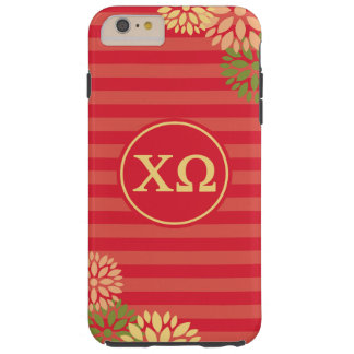 Chi Omega | Monogram Stripe Pattern Tough iPhone 6 Plus Case