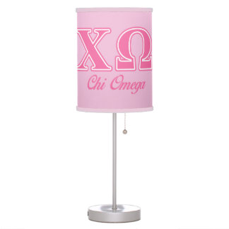 Chi Omega Pink Letters Table Lamp