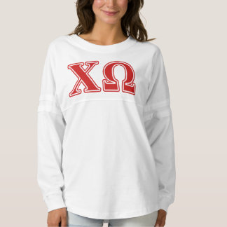 Chi Omega Red Letters Spirit Jersey