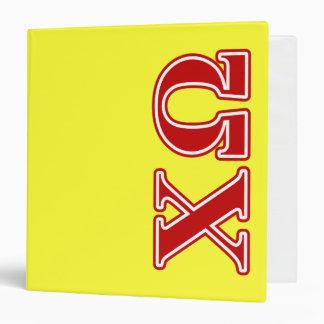 Chi Omega Red Letters Vinyl Binder