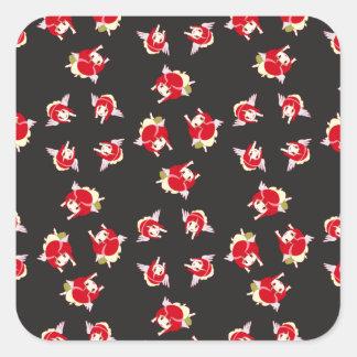 chi pattern-01 square sticker