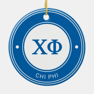 Chi Phi | Badge Ceramic Ornament