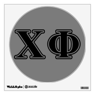Chi Phi Black Letters Wall Decal
