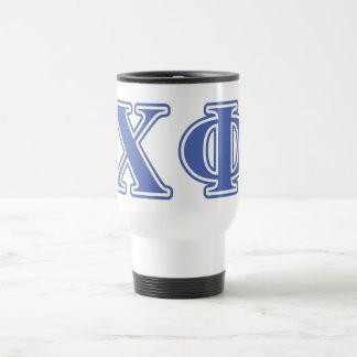 Chi Phi Blue Letters Travel Mug
