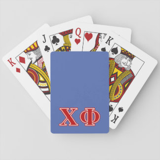 Chi Phi Red Letters Playing Cards