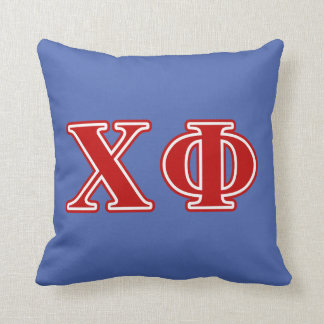 Chi Phi Red Letters Throw Pillow
