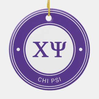 Chi Psi | Badge Ceramic Ornament