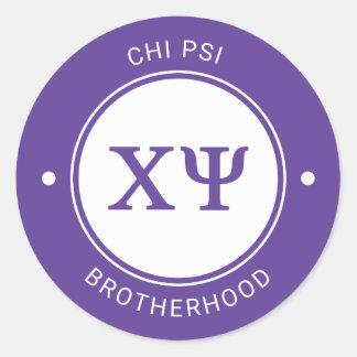 Chi Psi | Badge Classic Round Sticker