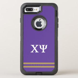 Chi Psi | Sport Stripe OtterBox Defender iPhone 8 Plus/7 Plus Case