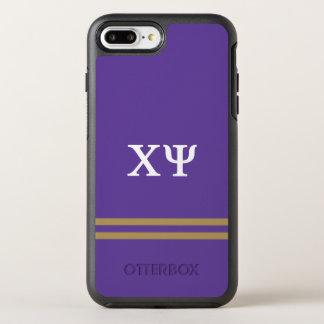 Chi Psi   Sport Stripe OtterBox Symmetry iPhone 8 Plus/7 Plus Case