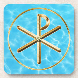 Chi-rho symbol coaster