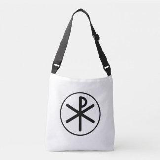 Chi-rho symbol crossbody bag