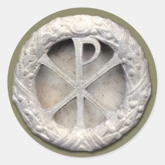 Chi-Rho - the Monogram of Christ Round Sticker