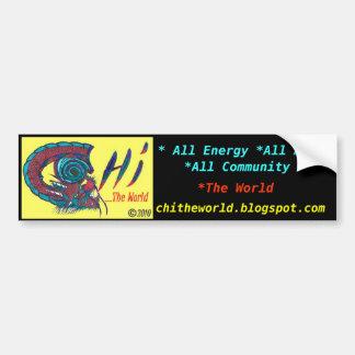 Chi The World Bumper Sticker