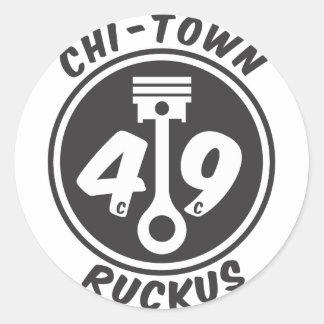 CHI-TOWN Ruckus Classic Round Sticker