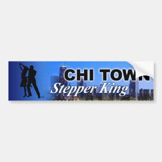 Chi Town Stepper King Chicago Skyline Bumper Sticker