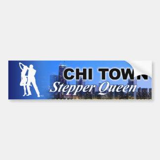 Chi Town Stepper Queen Chicago Skyline Bumper Sticker