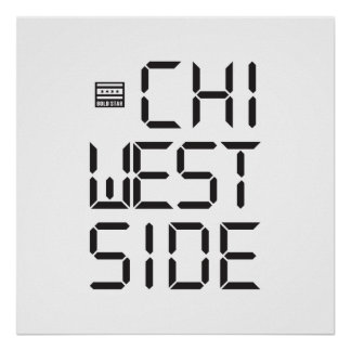 CHI WEST SIDE Bold Star Poster