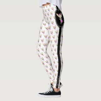 Chi Yum Yum print leggings- logo Leggings