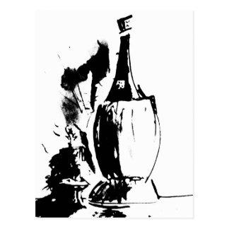 Chianti Watercolour Postcard