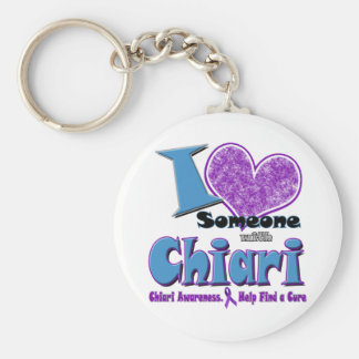 Chiari Awareness Basic Round Button Keychain