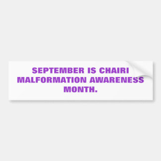 CHIARI AWARENESS BUMPER STICKER
