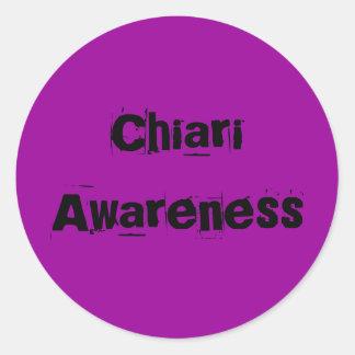 Chiari Awareness Classic Round Sticker
