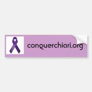 Chiari Malformation, conquerchiari.org Bumper Sticker
