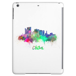 Chiba skyline in watercolor cover for iPad air