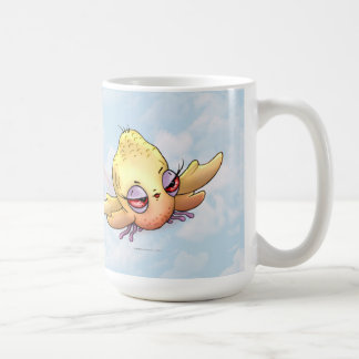 CHIBBITEE BIRD MONSTER CARTOON Classic White Mug