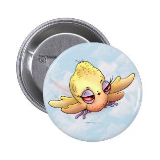 CHIBBITEE CUTE BIRD ALIEN MONSTER SMALL BUTTON 2¼