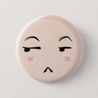 Chibi Anime Emoji Character Disbelief Emote Face 1 2 Inch Round Button