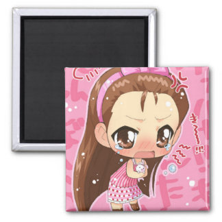 Chibi Anime Girl Button 2 Magnet