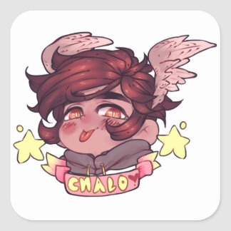 CHIBI BADGE CHALO SQUARE STICKER
