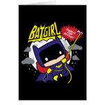 Chibi Batgirl Ready For Action Card