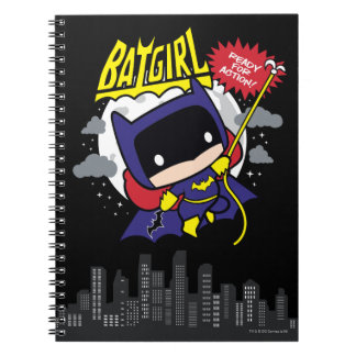 Chibi Batgirl Ready For Action Notebooks