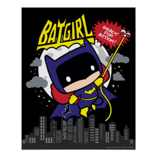 Chibi Batgirl Ready For Action Poster