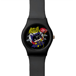 Chibi Batgirl Ready For Action Wrist Watches