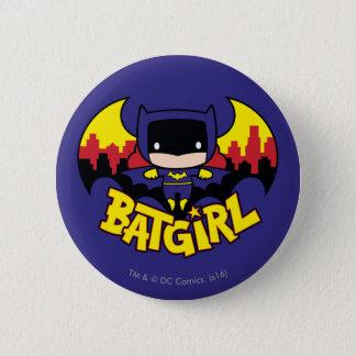 Chibi Batgirl With Gotham Skyline & Logo 2 Inch Round Button