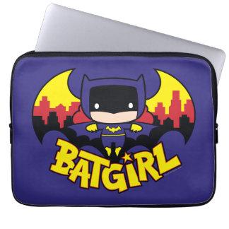 Chibi Batgirl With Gotham Skyline & Logo Laptop Sleeve