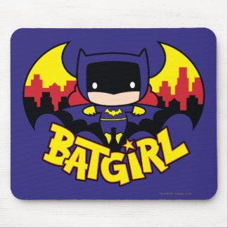 Chibi Batgirl With Gotham Skyline & Logo Mouse Pad
