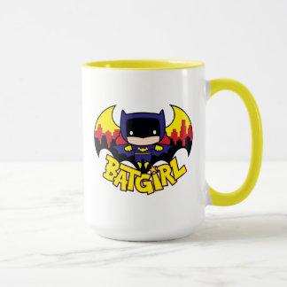 Chibi Batgirl With Gotham Skyline & Logo Mug